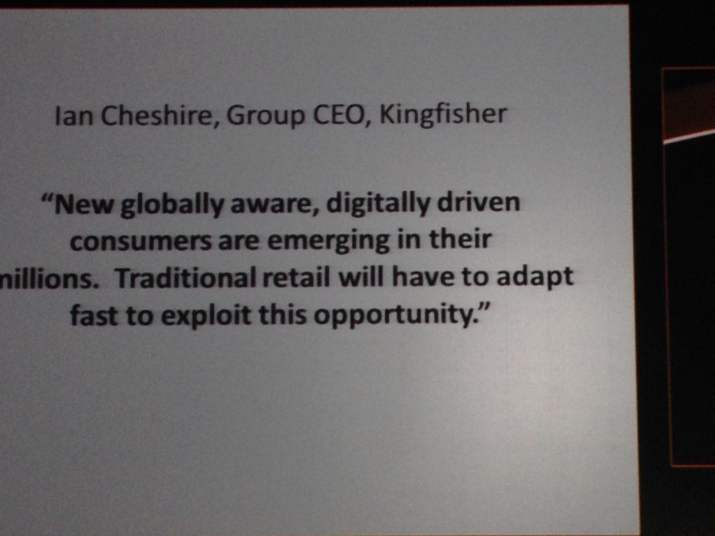 Ian Cheshire, Group CEO, Kingfisher